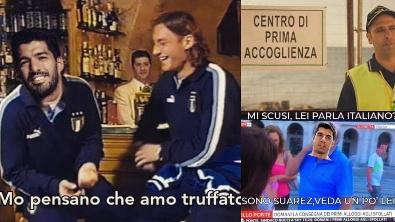 Suarez, esame d'italiano concordato: meme e ironie sui social