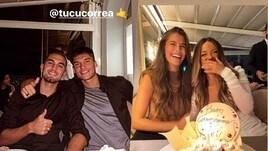 Lazio, cena Escalante-Correa: si festeggia il compleanno di Delfina