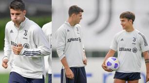 Juve, primo allenamento in gruppo per Morata