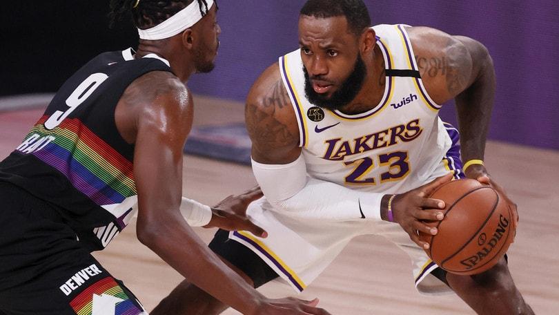 Nba: Lakers sul 3-1 contro Denver, Finals a un passo