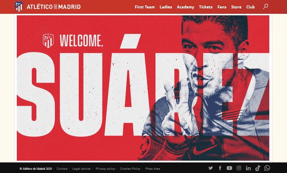 Ufficiale: Luis Suarez nuovo giocatore dell'Atletico Madrid