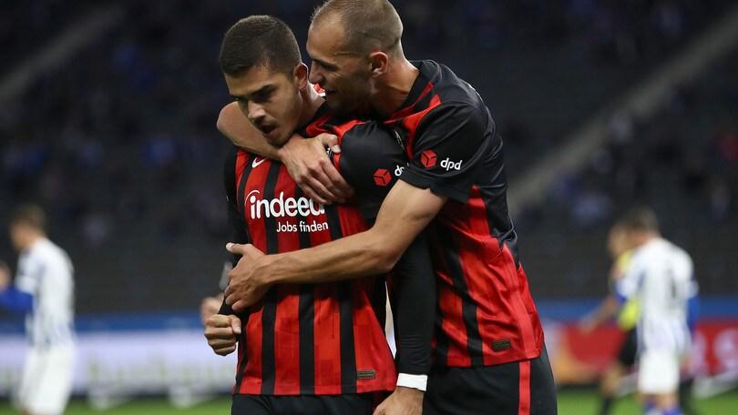 André Silva batte Piatek: sorride l'Eintracht a Berlino