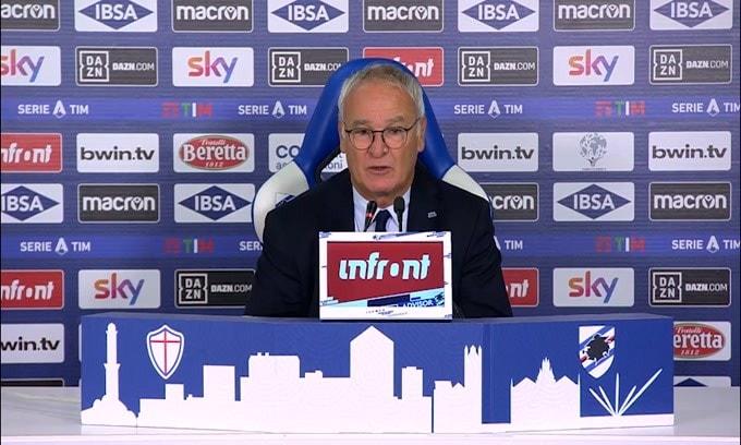 """Ranieri: """"Quagliarella arrabbiato per il cambio? Dispiaciuto.."""""""