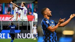 D'Ambrosio e Lukaku ribaltano la Fiorentina. L'Inter di Conte può gioire