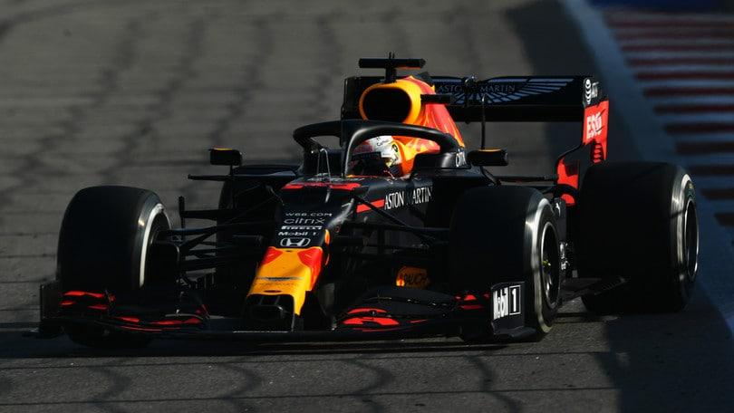 """Gp Russia, Verstappen: """"Anche oggi in mezzo alle Mercedes, soddisfatti"""""""