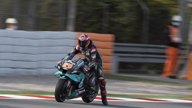 Gp Catalogna: Quartararo trionfa davanti a Mir, Valentino Rossi si ritira
