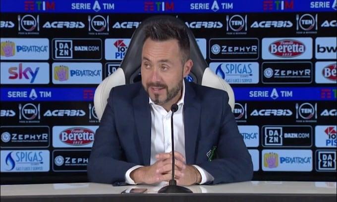 """De Zerbi: """"Potevamo ottenere un risultato ancora più largo"""""""
