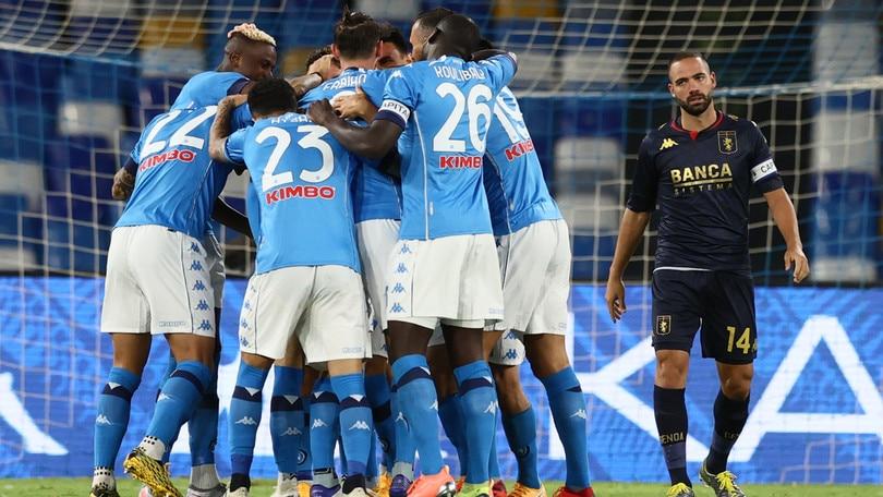 Napoli-Genoa 6-0, il tabellino