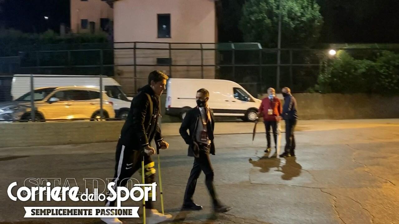 Zaniolo non si perde la prima in casa: eccolo all'Olimpico per Roma-Juve