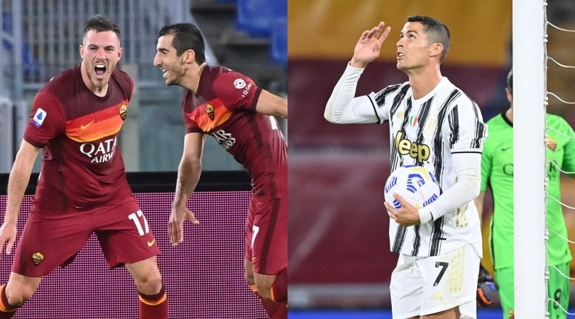 Veretout-Ronaldo, notte da bomber: Roma-Juve 2-2