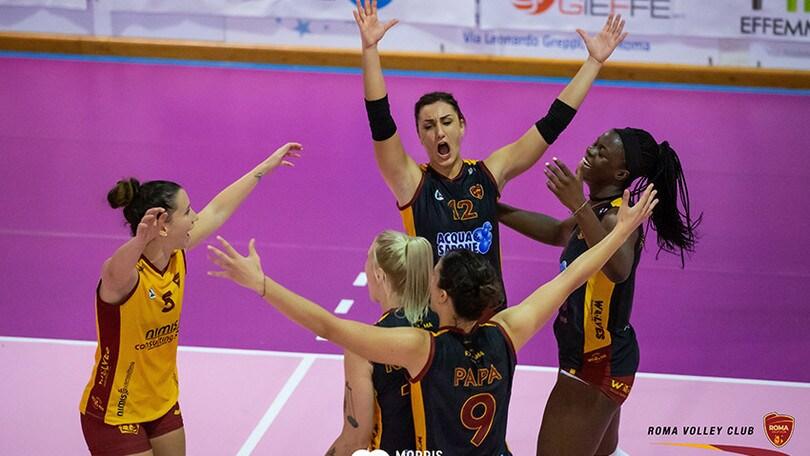 A2 Femminile: Vallefoglia e Roma al comando a punteggio pieno