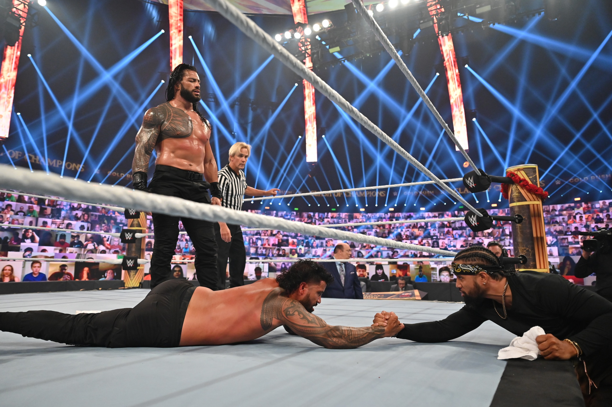 WWE Clash of Champions 2020, Roman Reigns umilia Jey Uso