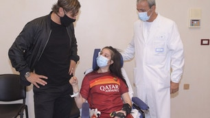 Totti incontra Ilenia, la ragazza uscita dal coma