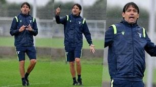 Lazio, Inzaghi show in allenamento sotto la pioggia