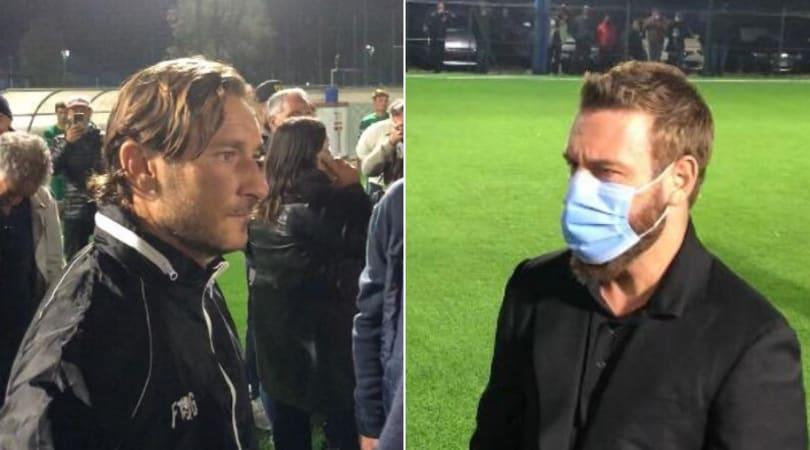 Totti e De Rossi di nuovo insieme: partita e festa di compleanno con tanti ex
