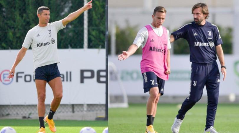 Juve: Ronaldo indica la via, Pirlo parla con Arthur