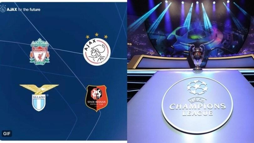 Champions League, la profezia dell'Ajax: ecco il girone con la Lazio