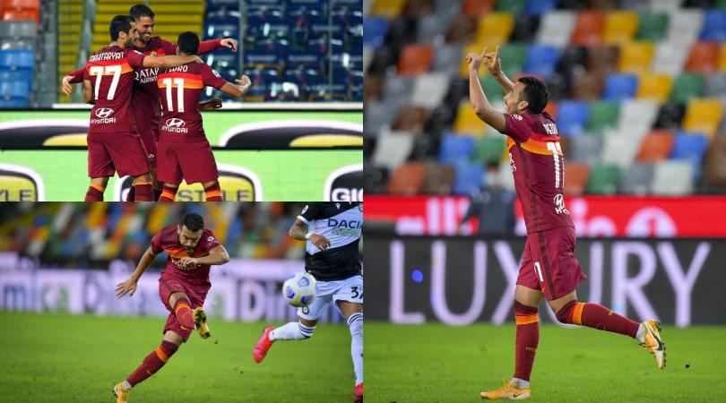 Pedro, che gol! La Roma batte l'Udinese e ottiene la prima vittoria in Serie A