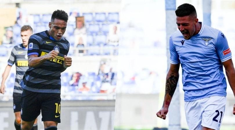 Lautaro-gol, poi l'urlo di Milinkovic: tra Lazio e Inter è 1-1