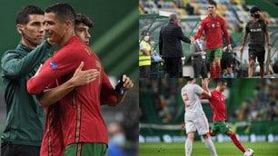 Cristiano Ronaldo non basta al Portogallo. Colpisce una traversa e viene sostituito da Joao Felix