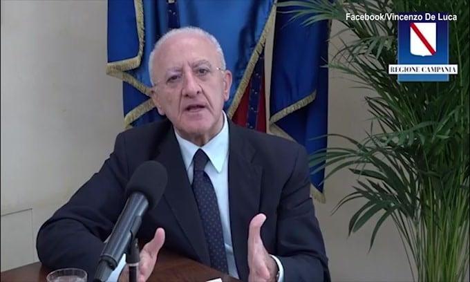 "De Luca su Mancini: ""Certe affermazioni poteva evitarle"""