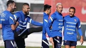 Dall'Inter al Cile: sorrisi Vidal, Sanchez con un ex Napoli