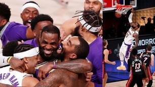 Nba, Lakers campioni! Gli Heat si arrendono in gara-6