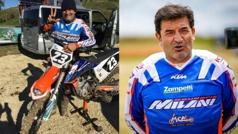 Max Giusti protagonista al campionato italiano di moto da cross d'epoca