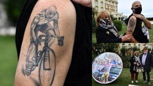 Il Giro d'Italia omaggia Pantani: ecco il tatuaggio di un fan