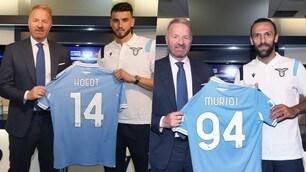 Lazio, Tare presenta Muriqi e Hoedt