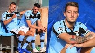Lazio, gli scatti ufficiali: Milinkovic modello e Radu riabbraccia Hoedt