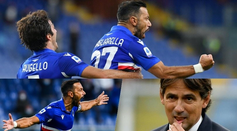 La Lazio cade, è festa Sampdoria: e che esultanza Quagliarella!