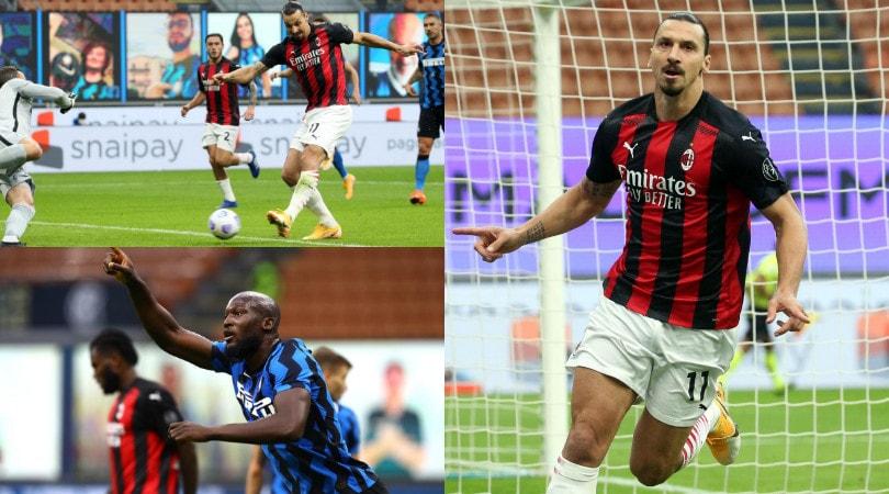Ibrahimovic, doppietta da urlo! Il Milan vince il derby contro l'Inter