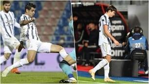 Chiesa, debutto con rosso a Crotone. Morata salva la Juve