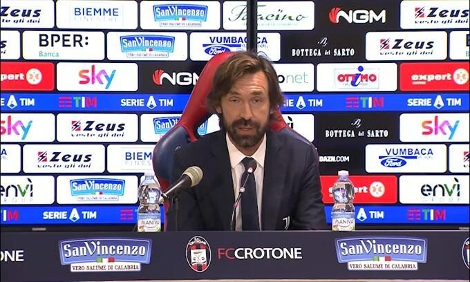 """Pirlo: """"La testa della Juve era al Crotone"""""""