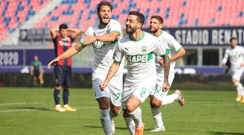 Bologna-Sassuolo 3-4: rimonta pazzesca, De Zerbi è secondo da solo!
