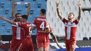 Fiorentina, 2-2 con dedica: Pezzella e Biraghi ricordano Astori