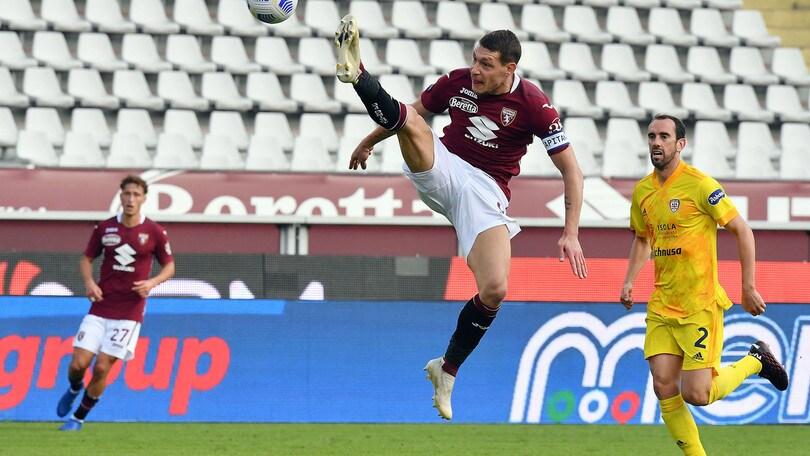 Torino-Cagliari 2-3, il tabellino