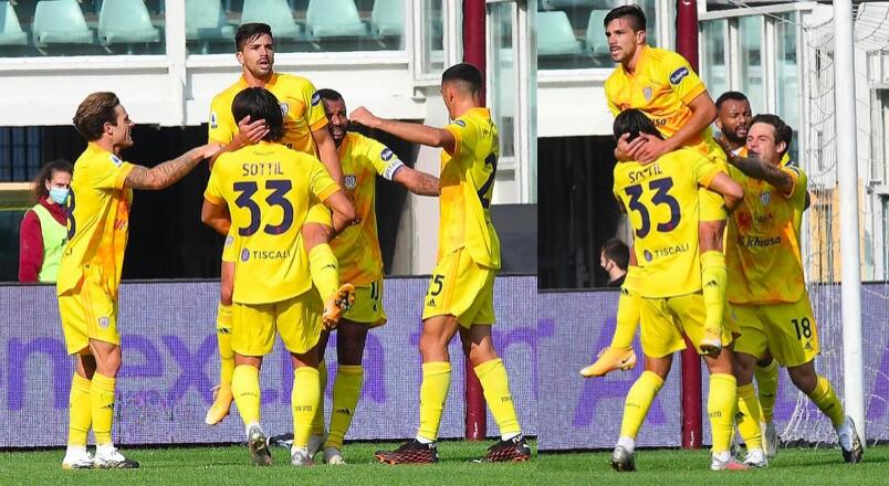 Simeone, che doppietta: il Cagliari sbanca Torino
