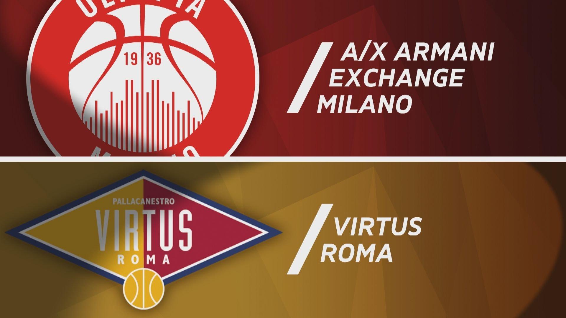 A|X Armani Exchange Milano - Virtus Roma 93-71