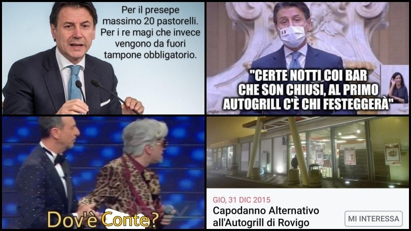 """Nuovo Dpcm, dal Capodanno in Autogrill a Biancaneve e i """"sei"""" nani: ironie e meme sul web"""