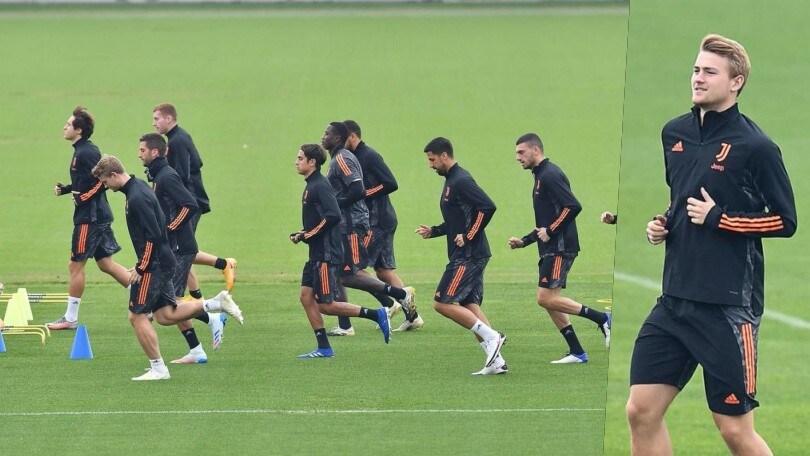 Juve, Pirlo ritrova De Ligt: rifinitura alla Continassa in vista della Dinamo Kiev