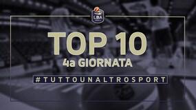 La Top Ten della 4a giornata del campionato di basket LBA