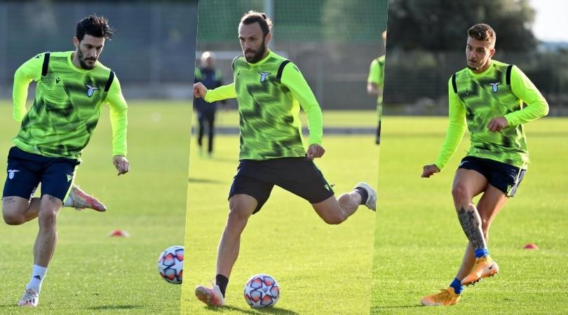 Lazio, allenamento pre Champions: Muriqi e Milinkovic provano i tiri