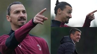 Milan, Ibrahimovic indica la via e Maldini se la ride