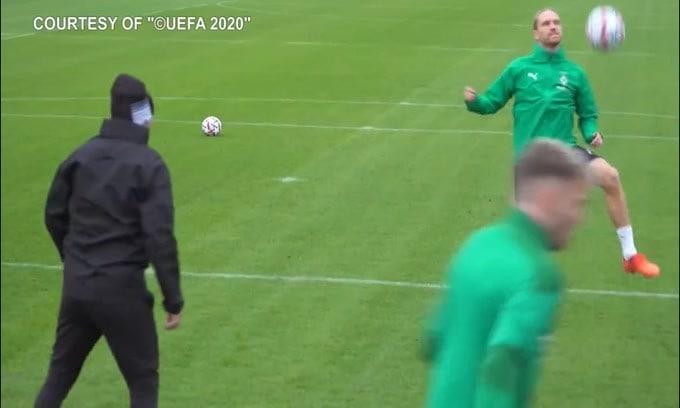 Inter-Borussia Mönchengladbach, l'allenamento dei tedeschi