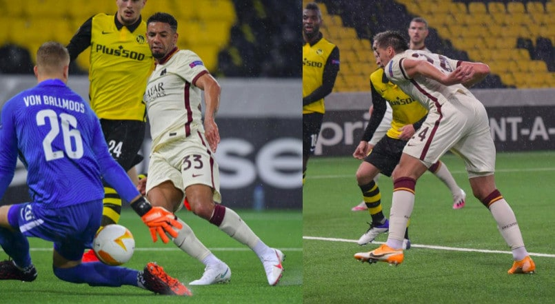 Roma, che rimonta in Europa League: decisivi Bruno Peres e Kumbulla