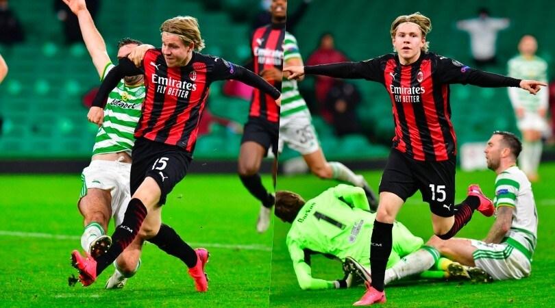 Milan, prima gioia per Hauge: entra e fa 3-1 al Celtic