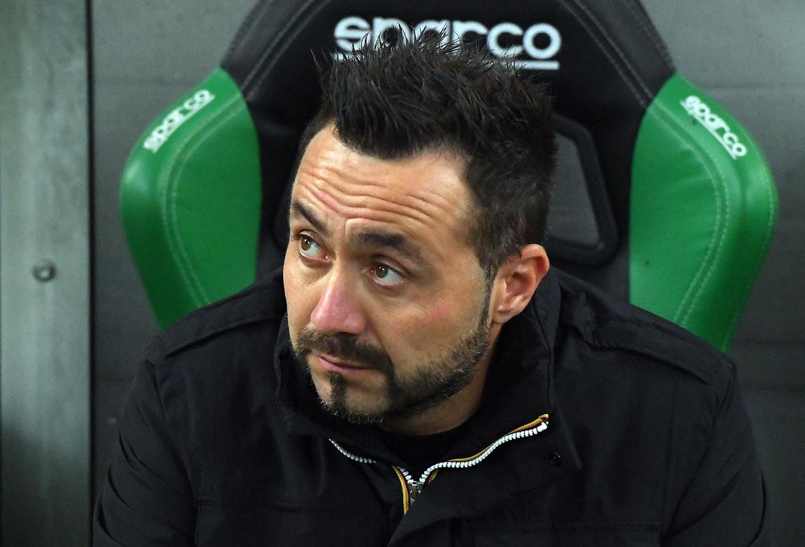 """De Zerbi: """"Il Sassuolo non muore mai"""""""