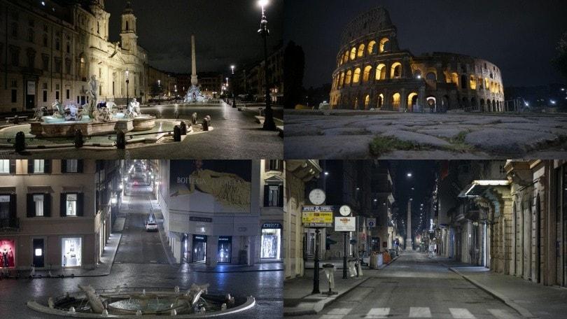 Coronavirus Roma, il coprifuoco: scene da film